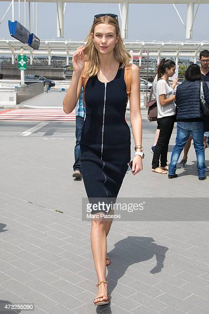 Model Karlie Kloss is seen at the Nice airport during the 68th annual Cannes Film Festival on May 14 2015 in Cannes France