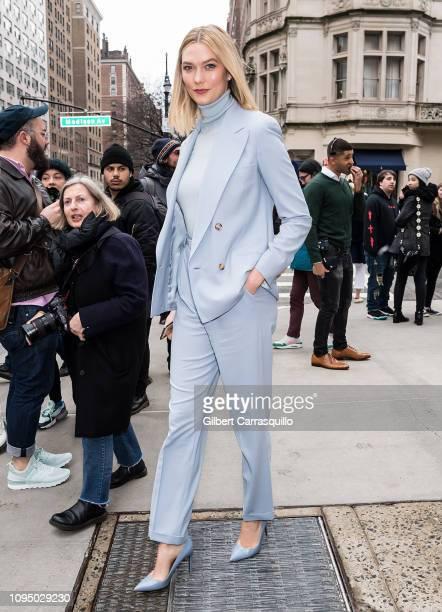 Model Karlie Kloss is seen leaving Ralph Lauren Spring/Summer 2019 fashion show during New York Fashion Week at Ralph's Coffee at Ralph Lauren...