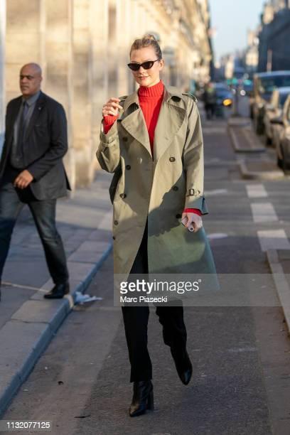 Model Karlie Kloss is seen on February 25 2019 in Paris France