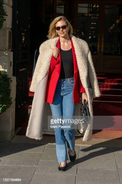 Model Karlie Kloss is seen on January 22, 2020 in Paris, France.