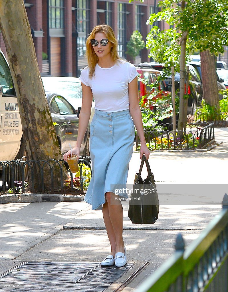 Model Karlie Kloss is seen walking in Soho on May 23, 2016 in New York City.