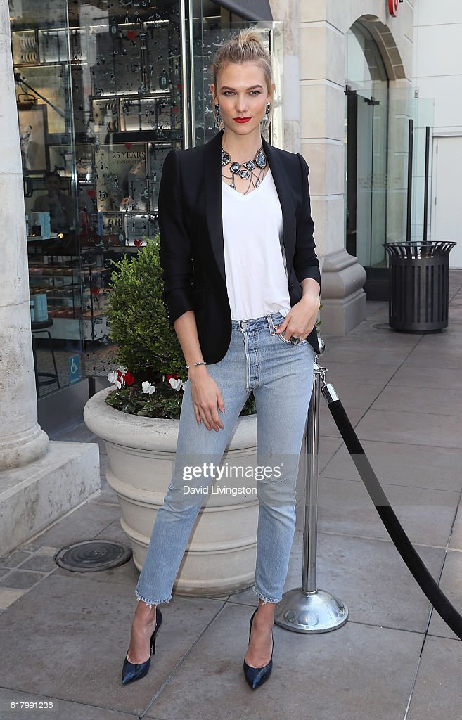 41ce0fa9e39b Model Karlie Kloss makes an in-store appearance at Swarovski at The ...