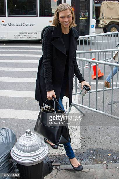 Model Karlie Kloss seen arriving at rehearsals for the 2013 Victoria's Secret Fashion Show on November 12 2013 in New York City