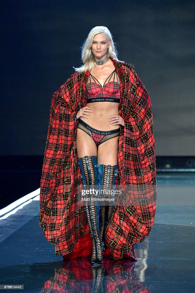 cffb6b58f Model Karlie Kloss walks the runway during the 2017 Victoria's ...