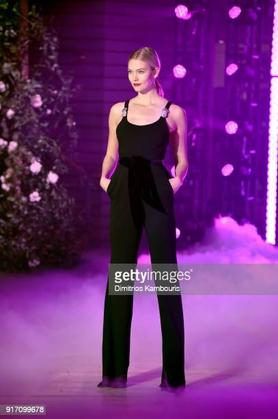 Model Karlie Kloss walks the runway for Brandon Maxwell during New York Fashion Week The Shows at Appel Room on February 11 2018 in New York City