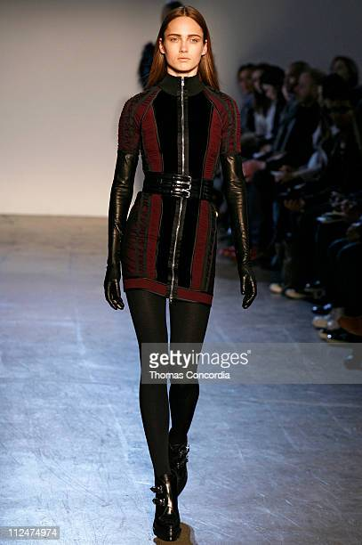 mercedes benz fashion week fall 2009 phi runway stock photos and