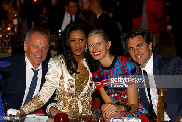 Model Karolina Kurkova and guests are seen at the Gala Event during the Vogue Fashion Dubai Experience on October 31 2014 in Dubai United Arab...