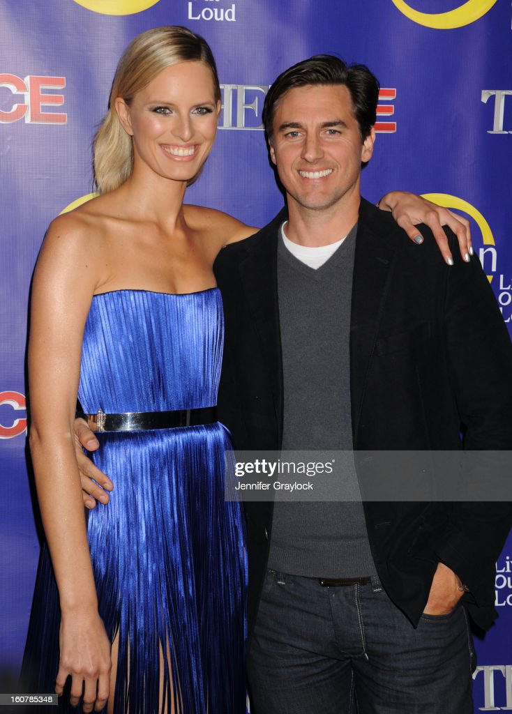 Model Karolina Kurkova and husband Archie Drury attend 'The Face' Series Premiere at Marquee New York on February 5, 2013 in New York City.