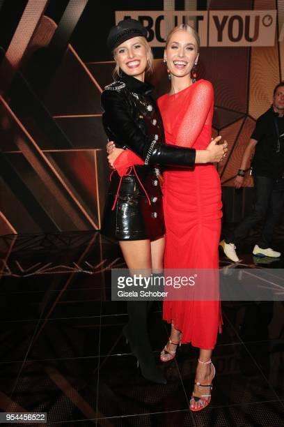 Model Karolina Kurkova and Lena Gercke during the 2nd ABOUT YOU Awards 2018 at Bavaria Studios on May 3 2018 in Munich Germany