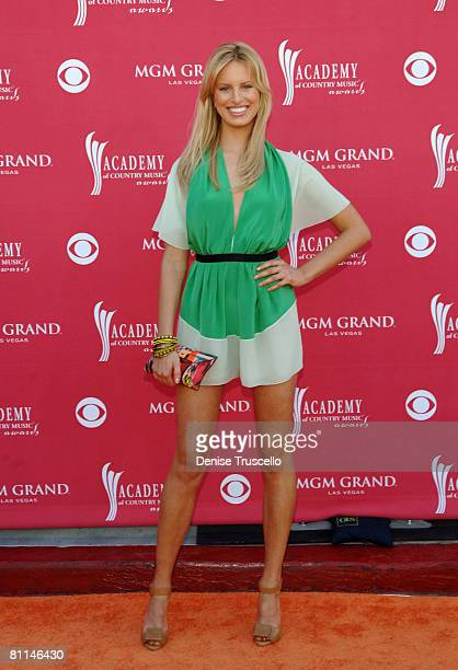 Model Karolina Kurkova arrives at the 43rd Academy of Country Music Awards at The MGM Grand Garden Arena on May 18 2008 in Las Vegas Nevada