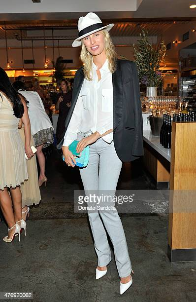 Model Karolina Kurkova attends a celebration honoring Christian Louboutin and his new boutique hosted by James Rosenfield at The Brentwood Country...