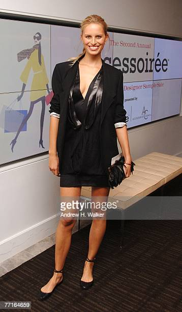 Model Karolina Kurkova attends a VIP sample sale hosted by herself the Accessories Council and InStyle Magazine on October 2 2007 in New York City