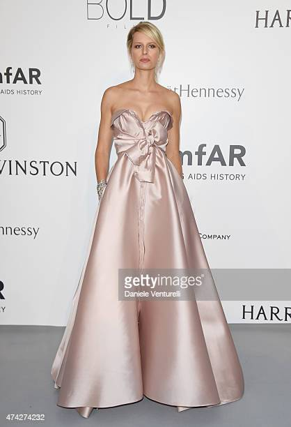 Model Karolina Kurkova attends amfAR's 22nd Cinema Against AIDS Gala Presented By Bold Films And Harry Winston at Hotel du CapEdenRoc on May 21 2015...