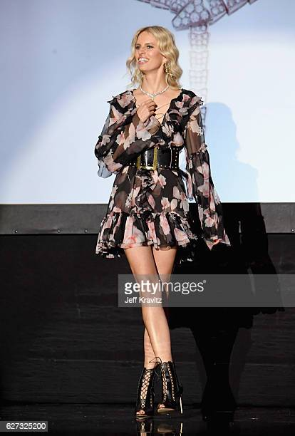 Model Karolina Kurkova attends Madonna presents An Evening of Music Art Mischief and Performance to benefit Raising Malawi at Faena Forum on December...