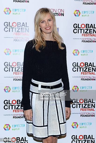 Model Karolina Kurkova attends the 2013 Global Citizen Festival to end extreme poverty in Central Park on September 28 2013 in New York City New York