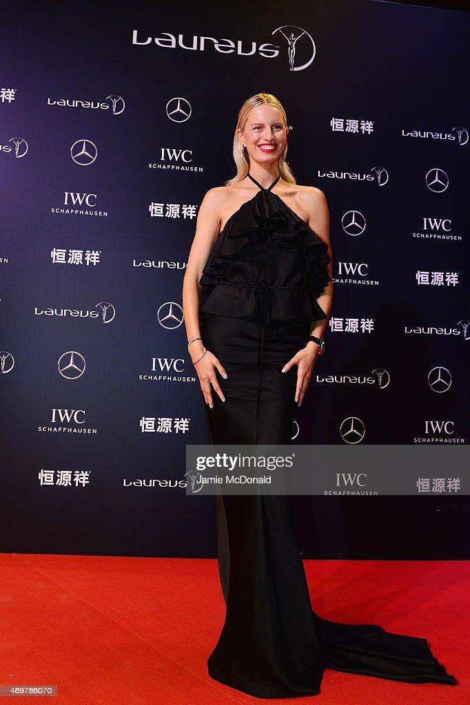 Model Karolina Kurkova attends the 2015 Laureus World Sports Awards at Shanghai Grand Theatre on April 15, 2015 in Shanghai, China.