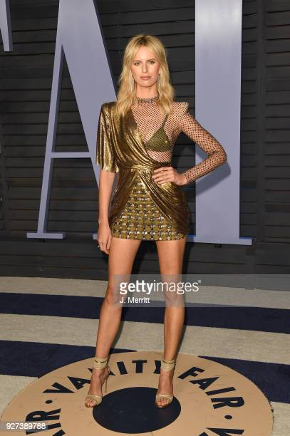 Model Karolina Kurkova attends the 2018 Vanity Fair Oscar Party hosted by Radhika Jones at the Wallis Annenberg Center for the Performing Arts on...