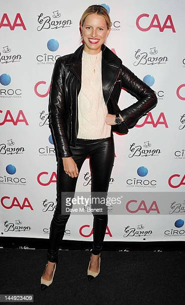 Model Karolina Kurkova attends the CAA Cannes Party in association with Ciroc Ultra Premium Vodka during the 65th Cannes Film Festival at Le Baron on...