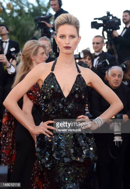 Model Karolina Kurkova attends the Killing Them Softly Premiere during the 65th Annual Cannes Film Festival at Palais des Festivals on May 22 2012 in...