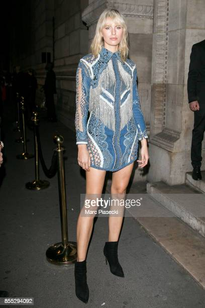 Model Karolina Kurkova attends the 'L'Oreal Paris X Balmain' party on September 28 2017 in Paris France