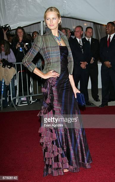 Model Karolina Kurkova attends the Metropolitan Museum of Art Costume Institute Benefit Gala Anglomania at the Metropolitan Museum of Art May 1 2006...
