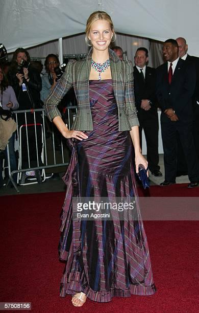 Model Karolina Kurkova attends the Metropolitan Museum of Art Costume Institute Benefit Gala: Anglomania at the Metropolitan Museum of Art May 1,...