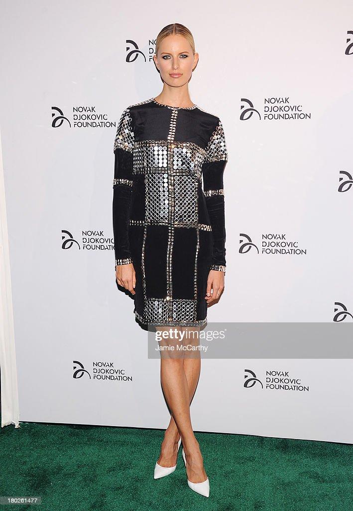Model Karolina Kurkova attends the Novak Djokovic Foundation New York dinner at Capitale on September 10, 2013 in New York City.