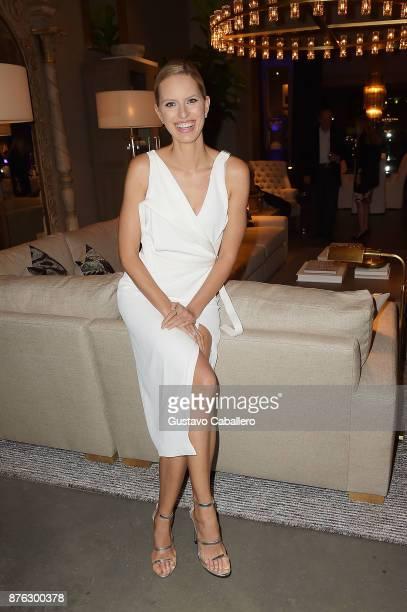 Model Karolina Kurkova attends the private opening celebration of RH West Palm on November 18 2017 in West Palm Beach Florida