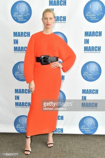 Model Karolina Kurkova attends the UN Women for Peace Association 2019 International Women's Day celebration at United Nations Headquarters on March...