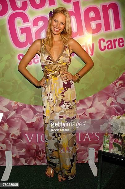 Model Karolina Kurkova attends the Victoria's Secret Beauty Secret Garden ReLaunch Event at The Estate on August 10 2007 in Sag Harbor