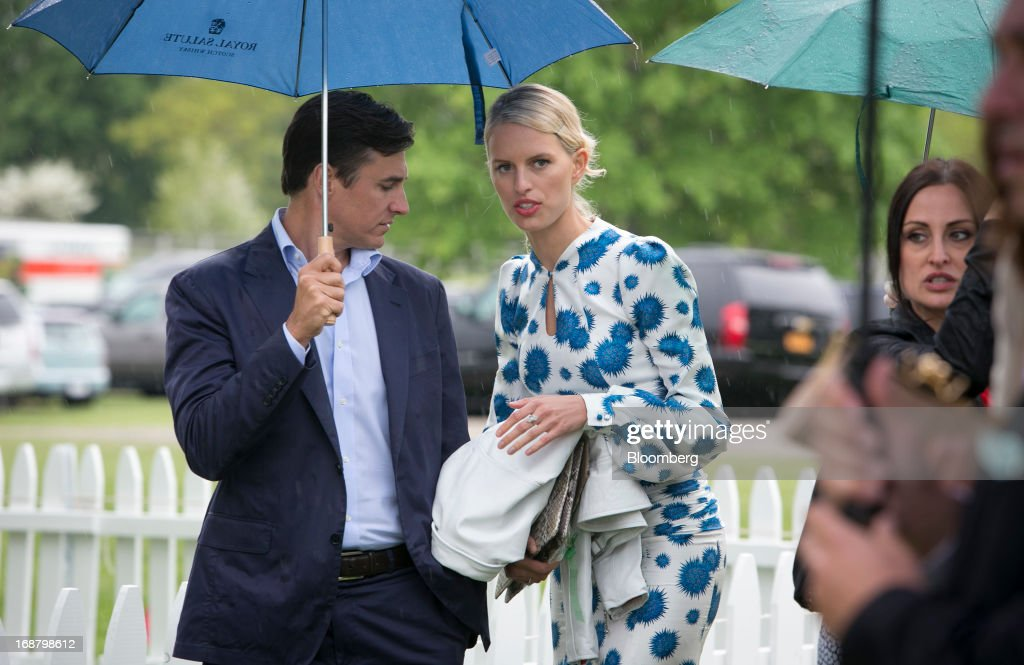 Model Karolina Kurkova, center, arrives during the Sentebale Royal Salute Polo Cup at the Greenwich Polo Club in Greenwich, Connecticut, U.S., on Wednesday, May 15, 2013. Prince Harry of Wales' visit is part of a week-long U.S. tour that also includes stops in Washington, Colorado and New York. Photographer: Scott Eells/Bloomberg via Getty Images