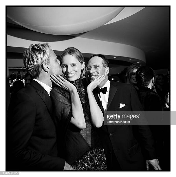 Model Karolina Kurkova is photographed at Vanity Fair Cannes Party at the Eden Roc, Cap d'Antibes for Vanity Fair Magazine on May 15, 2010 in Cannes,...