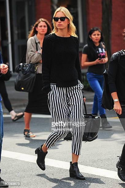 Model Karolina Kurkova is seen in Soho on September 10 2013 in New York City