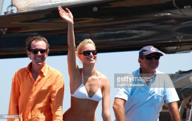 Model Karolina Kurkova on Alberto Palatzi's yacht with friends