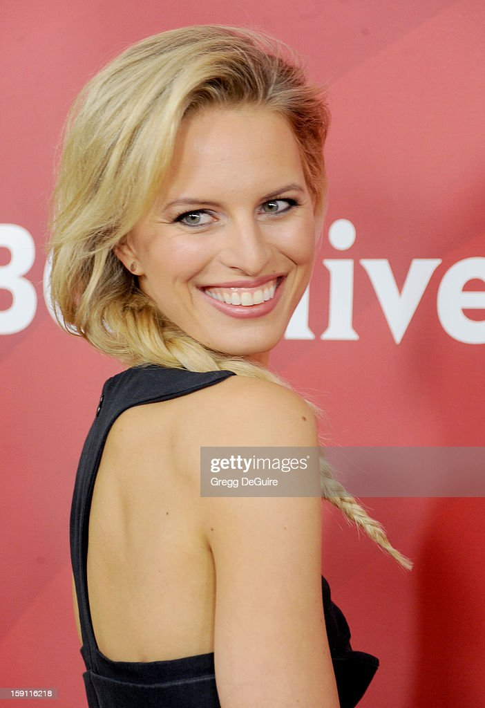 Model Karolina Kurkova poses at the 2013 NBC Universal TCA Winter Press Tour Day 2 at The Langham Huntington Hotel and Spa on January 7, 2013 in Pasadena, California.