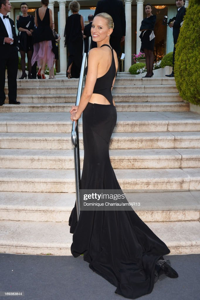 Model Karoline Kurkova attends amfAR's 20th Annual Cinema Against AIDS during The 66th Annual Cannes Film Festival at Hotel du Cap-Eden-Roc on May 23, 2013 in Cap d'Antibes, France.