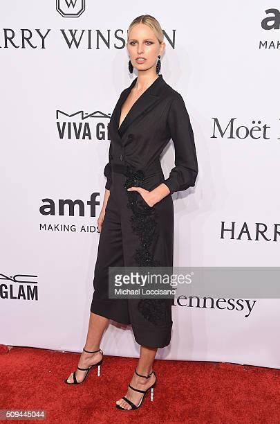 Model Karolína Kurkova attends 2016 amfAR New York Gala at Cipriani Wall Street on February 10 2016 in New York City