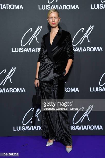 Model Karol'na Kurkova attends the CR Fashion Book x Luisaviaroma Photocall as part of the Paris Fashion Week Womenswear Spring/Summer 2019 on...