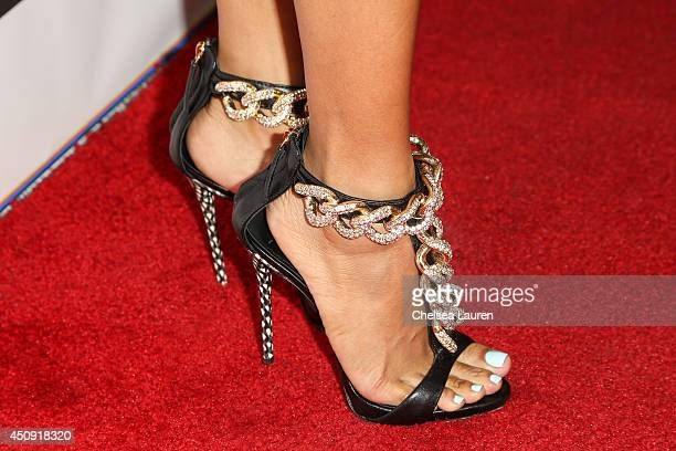Model Karrueche Tran arrives at the 'Free The Nipple' fundraiser at SkyBar at the Mondrian Los Angeles on June 19 2014 in West Hollywood California