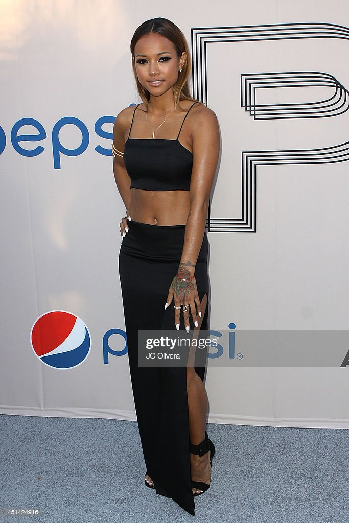 Model Karrueche Tran attends 'PRE' BET Awards Dinner at Milk Studios on June 28, 2014 in Hollywood, California.