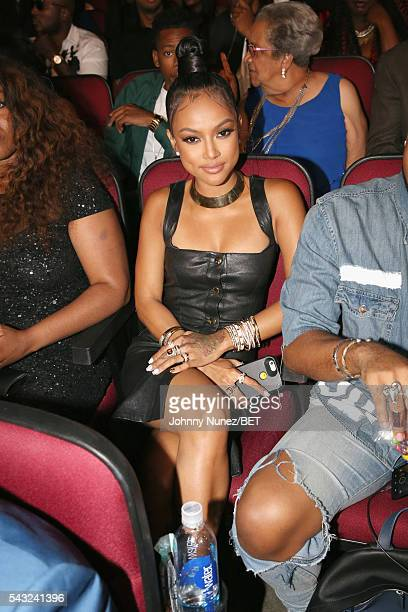 Model Karrueche Tran attends the 2016 BET Awards at the Microsoft Theater on June 26 2016 in Los Angeles California