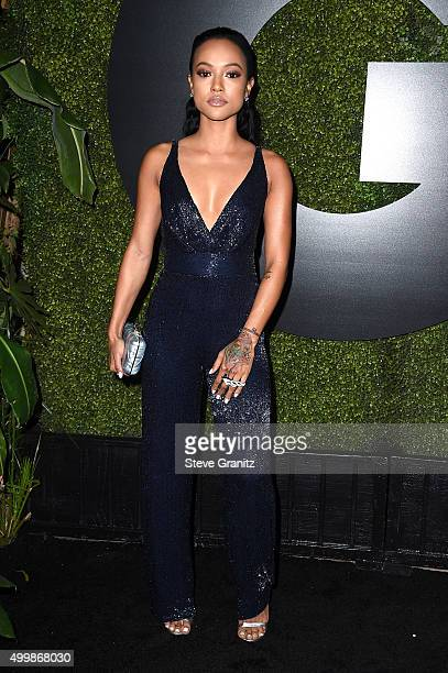 Model Karrueche Tran attends the GQ 20th Anniversary Men Of The Year Party at Chateau Marmont on December 3 2015 in Los Angeles California