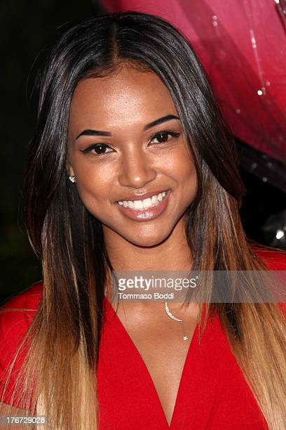 Model Karrueche Tran attends the Karma International presents Kandyland 2013 An Evening Of Decadent Dreams benefiting of Generation Rescue on August...