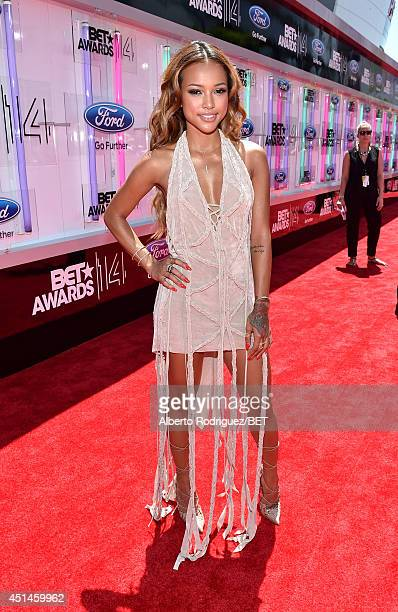Model Karrueche Tran attends the Pantene Style Stage during BET AWARDS '14 at Nokia Theatre LA LIVE on June 29 2014 in Los Angeles California