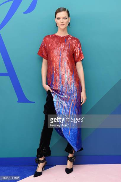 Model Kasia Struss attends the 2017 CFDA Fashion Awards at Hammerstein Ballroom on June 5 2017 in New York City