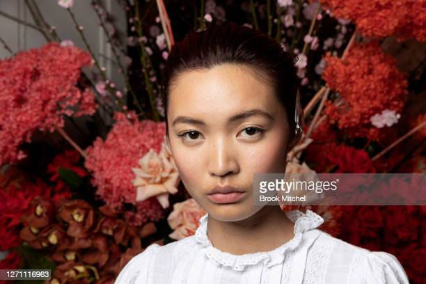 Model Kat Wu poses ahead of the David Jones SS20 New Dawn Season Launch at David Jones Elizabeth Street Store on September 07 2020 in Sydney Australia