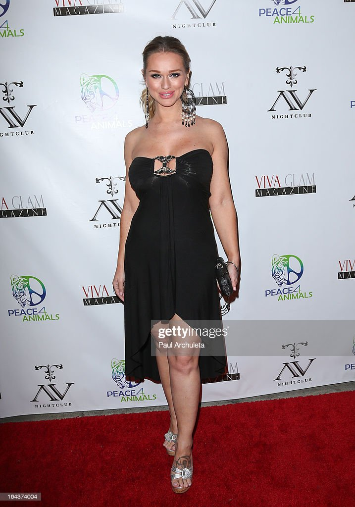 Model Katarina Van Derham attends the Viva Glam Magazine April launch party in support of Peace 4 Animals at AV Nightclub on March 22, 2013 in Hollywood, California.