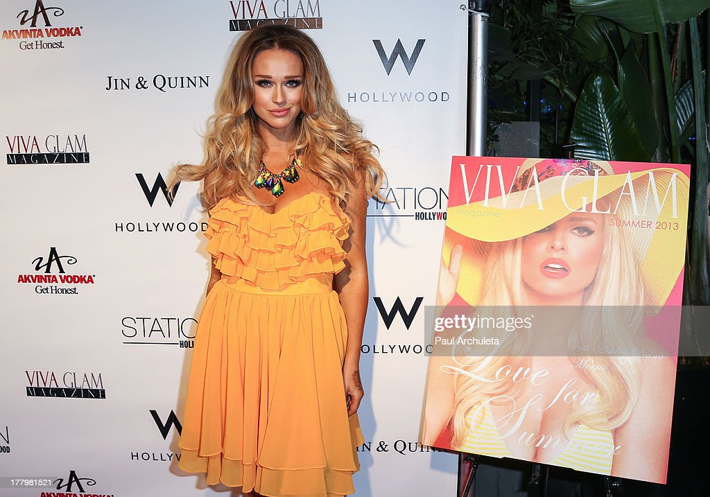 Model Katarina Van Derham attends the Viva Glam Magazine Summer 2013 issue launch party at W Hollywood on August 25, 2013 in Hollywood, California.
