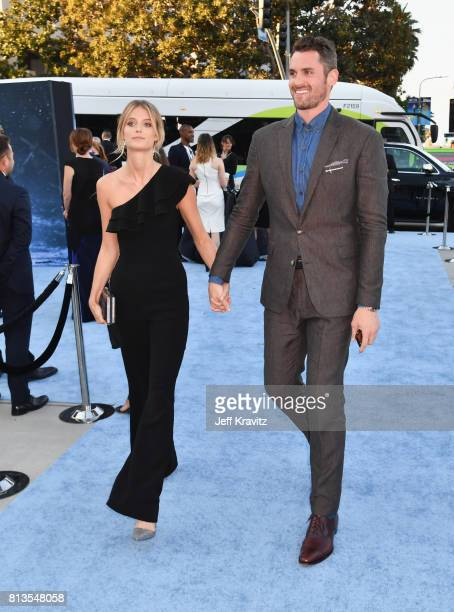 Model Kate Bock and NBA player Kevin Love at the Los Angeles Premiere for the seventh season of HBO's Game Of Thrones at Walt Disney Concert Hall on...