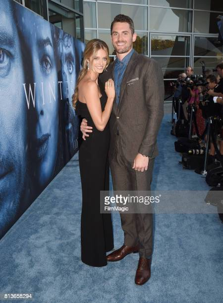 Model Kate Bock and NBA player Kevin Love at the Los Angeles Premiere for the seventh season of HBO's 'Game Of Thrones' at Walt Disney Concert Hall...